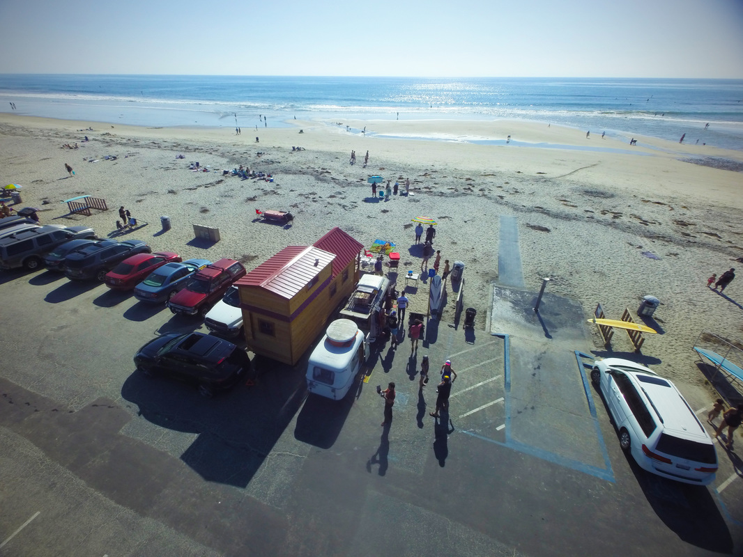 Tiny House Beach Party Cardiff Beach California Tiny Treasure