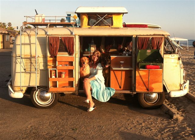 Marie Kicking It In Her Tiny House Vw Bus Beach Front Property At Its Best