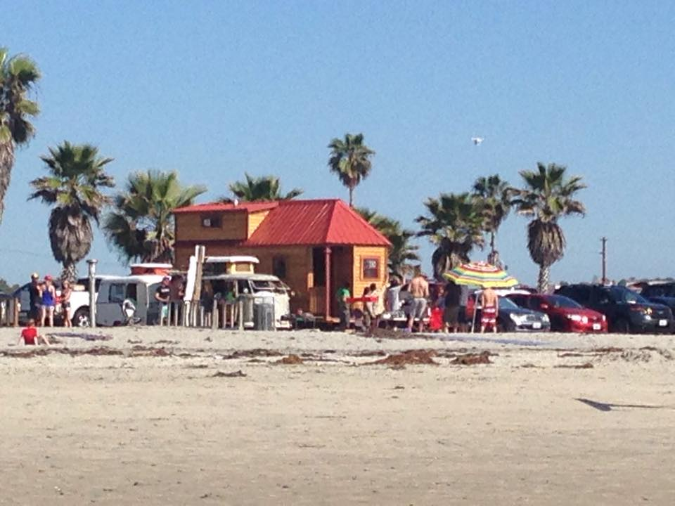 Tiny House Beach Party At Cardiff State CA
